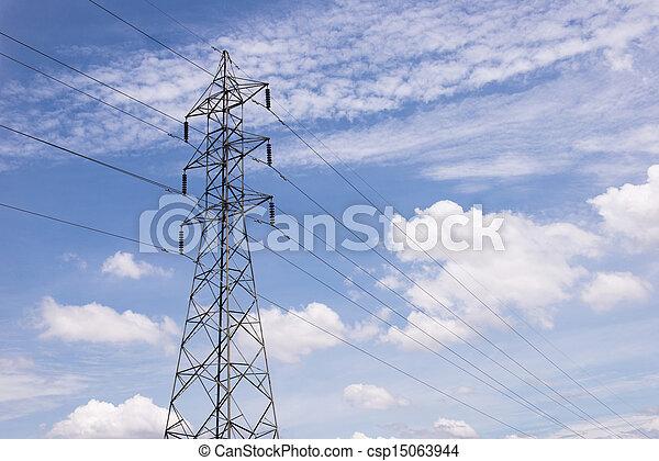 電気, transmittion, 5, タワー - csp15063944