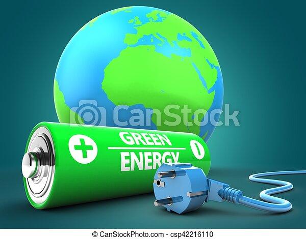 電池, 地球の 地球, 3d - csp42216110