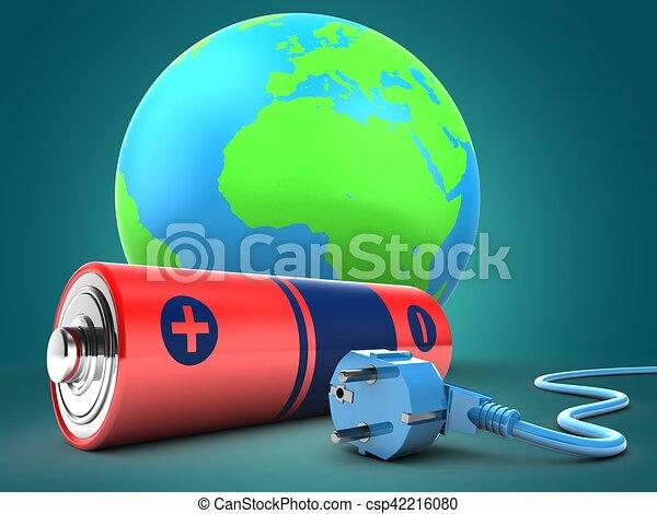 電池, 地球の 地球, 3d - csp42216080