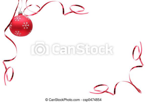 電球, クリスマス, 赤 - csp0474854
