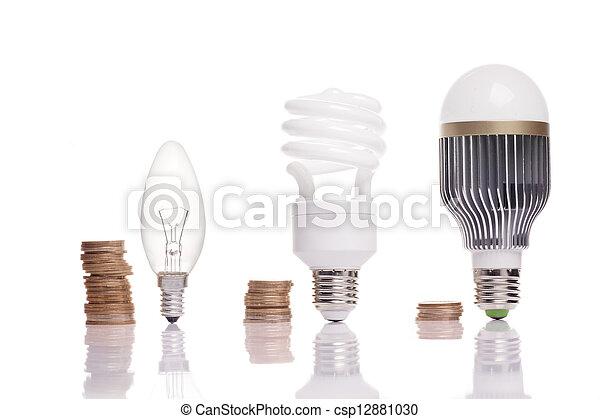電球, 別, タイプ, ライト - csp12881030