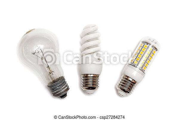 電球, 別, タイプ, ライト - csp27284274
