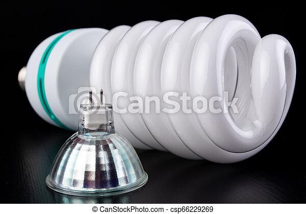 電球, 別, 木製である, ライト, ライト, lighting., 蛍光, 新しい, テーブル。, タイプ - csp66229269