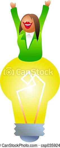 電球, 女 - csp0359248