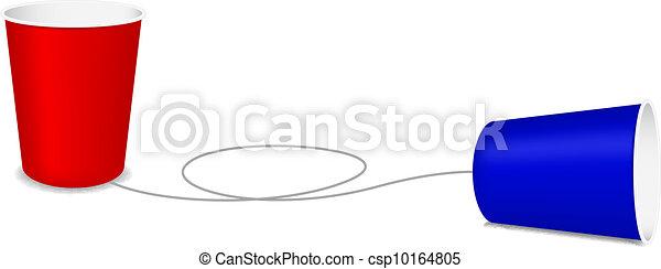 電話, プラスチックのカップ - csp10164805
