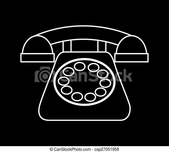 電話, レトロ - csp27051958