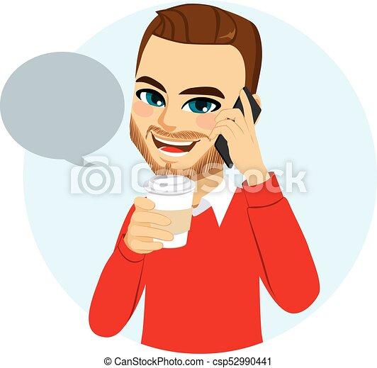 電話, 偶然, 人 - csp52990441