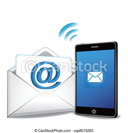 電話, 電子メール, 痛みなさい, 発送 - csp8015250