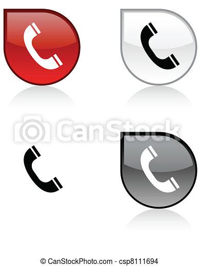 電話, button. - csp8111694