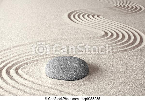 霊歌, 禅, 瞑想, 背景 - csp9358385