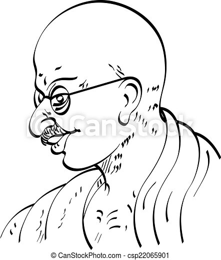 霊歌 Ji 政治的である o Calligraphic Mahatma ガンジー リーダー