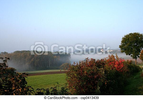 霧が濃い, 風景 - csp0413439