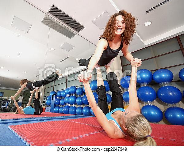 靈活, 女孩, 工作室, 健身 - csp2247349