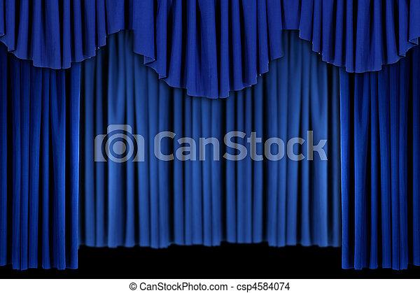 青いびら門, 明るい, ドレープ, 背景 - csp4584074