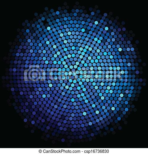 青いライト, ベクトル, 背景, ディスコ - csp16736830