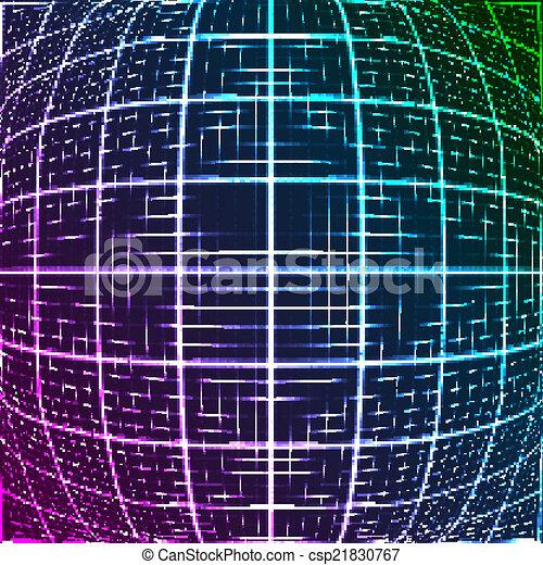 青いライト, 光線, 3d, mosaic. - csp21830767