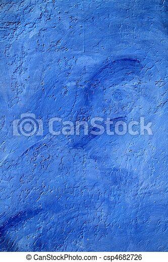 青い壁, グランジ, 手ざわり, 背景 - csp4682726