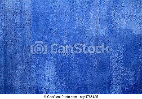 青い壁, グランジ, 手ざわり, 背景 - csp4768135