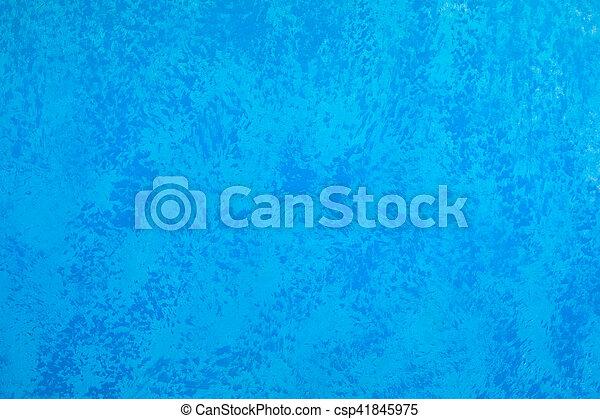 青い壁, グランジ, 手ざわり, 背景 - csp41845975