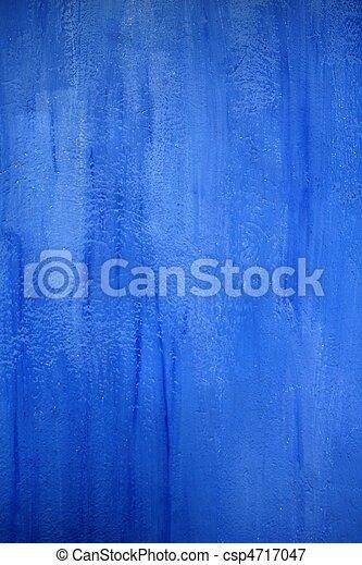 青い壁, グランジ, 手ざわり, 背景 - csp4717047