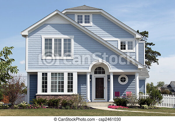 青い家, 白, colums - csp2461030