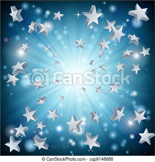 青い星, 爆発, 背景 - csp9148688