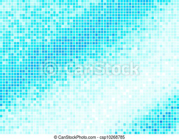 青い正方形, ライト, 抽象的, バックグラウンド。, 多色刷り, ベクトル, タイル, ピクセル, モザイク - csp10268785