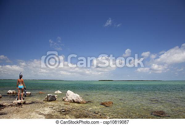 青い水, ゆとり, snorkeling - csp10819087