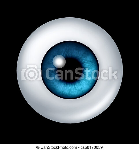 青い球, 目, 人間 - csp8170059