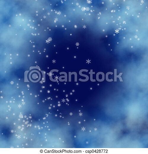 青い背景 - csp0428772