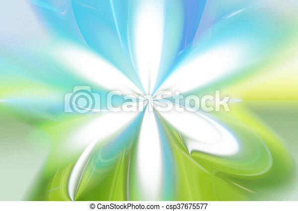 青い花, 自然, eco, 空, 色, 緑の背景, 草 - csp37675577