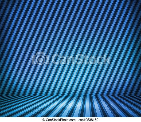 青, しまのある, 部屋, 背景, ショー - csp10538160