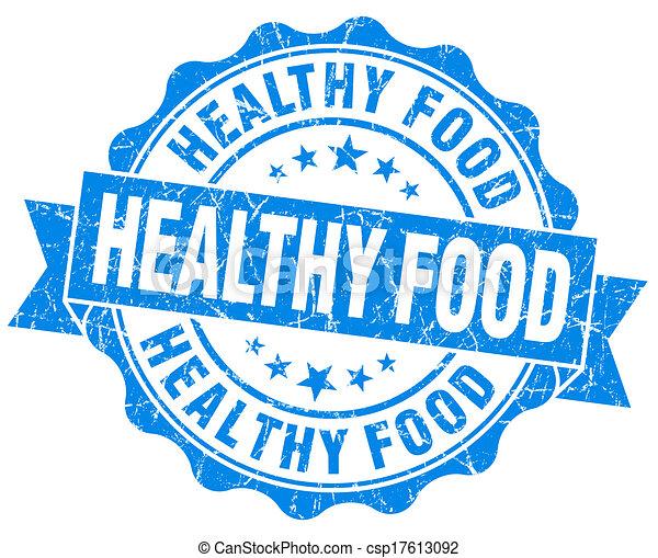 青, グランジ, 健康, 隔離された, 食物背景, シール, 白 - csp17613092