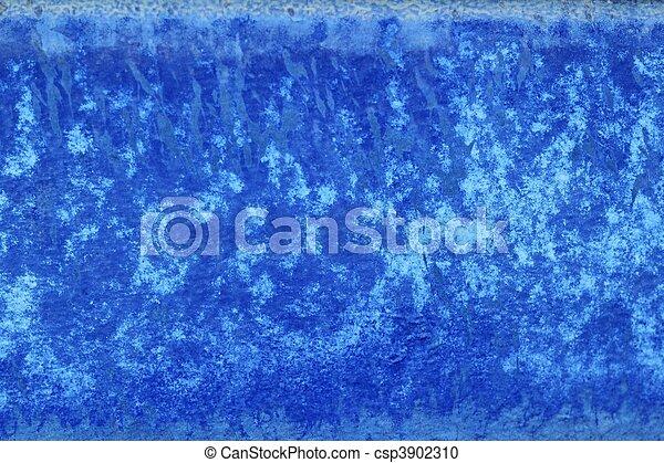 青, グランジ, 壁, 手ざわり, ペンキ, 背景, 年を取った - csp3902310