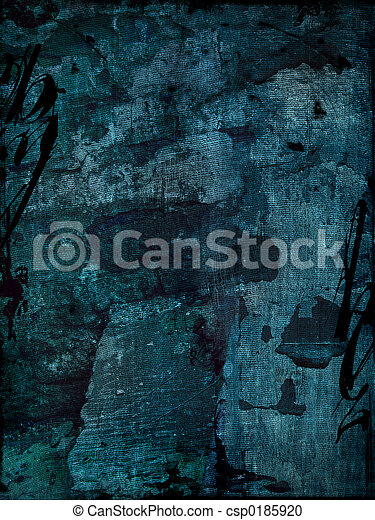 青, グランジ, 背景 - csp0185920