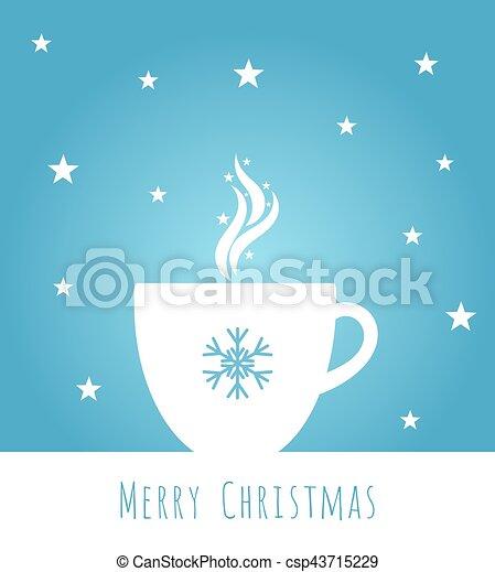 青, コーヒー, クリスマス - csp43715229