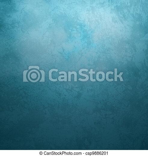 青, スタイル, 古い, 型, 暗い, ペーパー, レトロ, 背景, グランジ - csp9886201