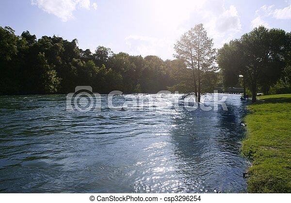 青, テキサス, san, 自然, antonio, 川の景色 - csp3296254