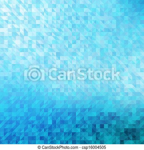 青, バックグラウンド。, 幾何学的, 抽象的 - csp16004505