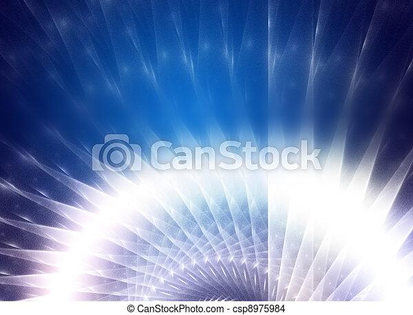 青, バックグラウンド。, 抽象的なデザイン, 技術的である - csp8975984
