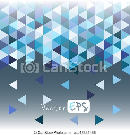 青, パターン, 幾何学的, 三角形, モザイク - csp16851456