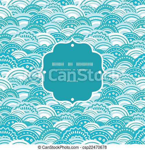 青, パターン, 抽象的, seamless, ベクトル, 背景, 波, フレーム - csp22470678