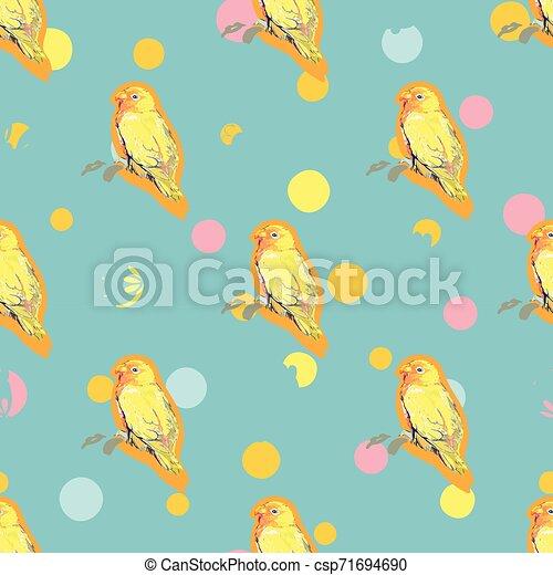 青, パターン, bird., 点 - csp71694690