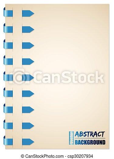 青, パンフレット, デザイン, 矢 - csp30207934