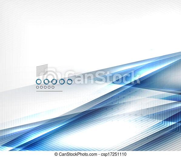 青, ビジネス, ライン, 動き, ベクトル, テンプレート, ぼやけ - csp17251110