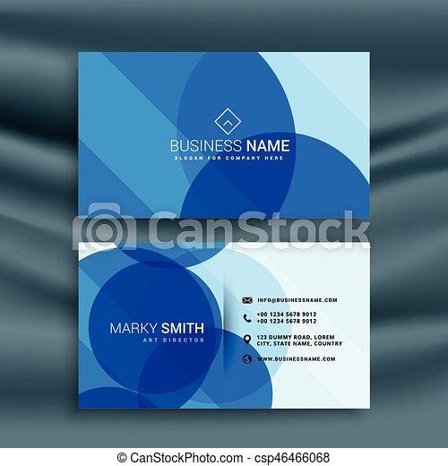 青, ビジネス, 抽象的なデザイン, テンプレート, カード - csp46466068