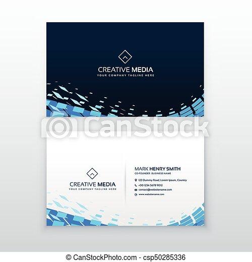 青, ビジネス, 抽象的な近代的な意匠, カード - csp50285336