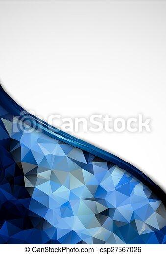 青, ビジネス, 抽象的, pattern., 水晶, デザイン - csp27567026
