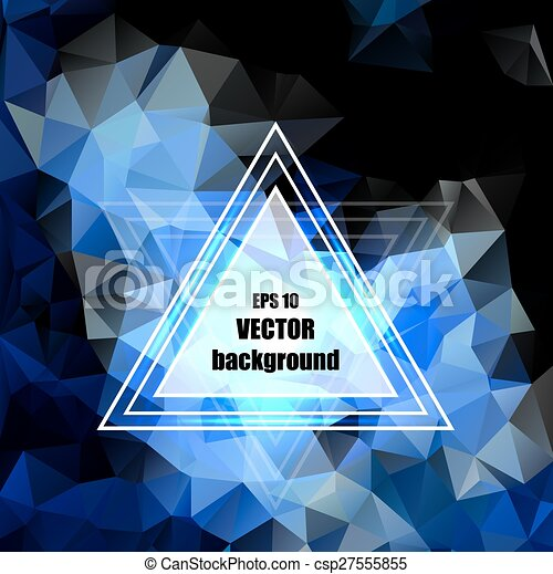 青, ビジネス, 抽象的, pattern., 水晶, デザイン - csp27555855