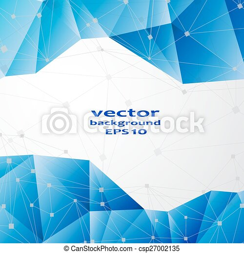 青, ビジネス, 抽象的, pattern., 水晶, デザイン - csp27002135